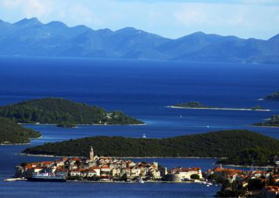 View on Korčula from Pelješac