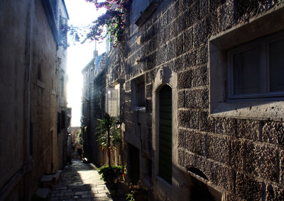 Explore the narrow streets of this ancient island town